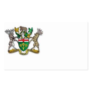 Escudo de armas de Ontario Tarjetas De Visita