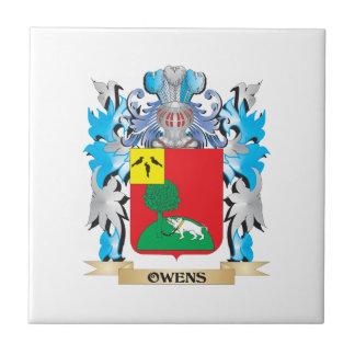Escudo de armas de Owens- - escudo de la familia Tejas