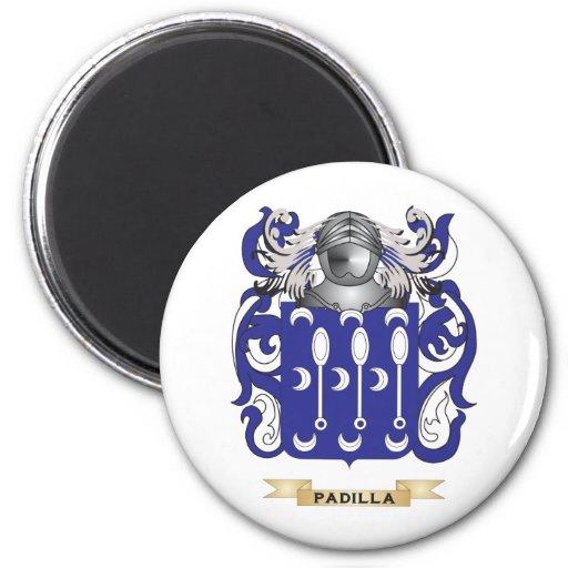Escudo de armas de Padilla (escudo de la familia) Imán Redondo 5 Cm