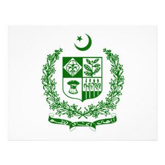 Escudo de armas de Paquistán Tarjetón