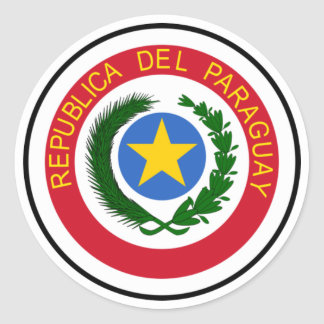 Escudo de armas de Paraguay Pegatina Redonda