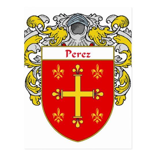 Escudo de armas de Pérez (cubierto) Postal