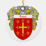 Escudo de armas de Pérez/escudo de la familia Ornamentos Para Reyes Magos