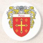 Escudo de armas de Pérez/escudo de la familia Posavaso Para Bebida