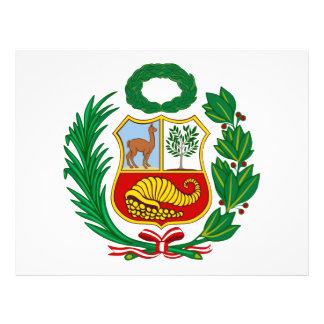 Escudo de armas de Perú Flyer Personalizado