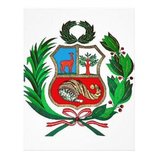 Escudo de armas de Perú Folleto 21,6 X 28 Cm