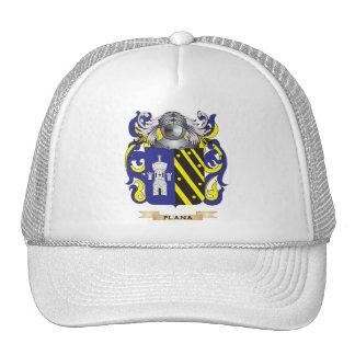Escudo de armas de Plana (escudo de la familia) Gorros