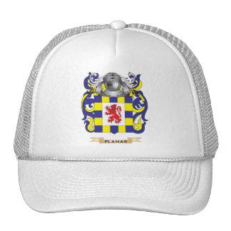Escudo de armas de Planas (escudo de la familia) Gorros