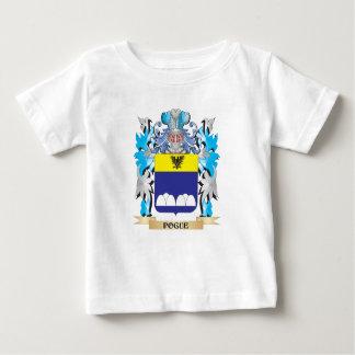 Escudo de armas de Pogue - escudo de la familia Camiseta Para Bebé