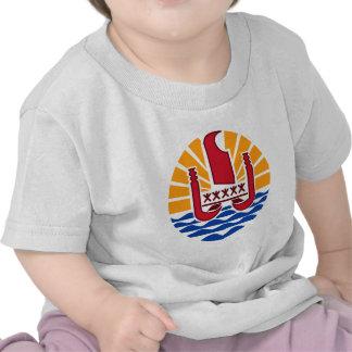 Escudo de armas de Polinesia francesa Camisetas