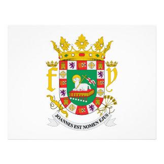 Escudo de armas de Puerto Rico Tarjetas Informativas