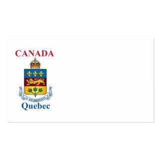 Escudo de armas de Quebec Tarjetas De Visita