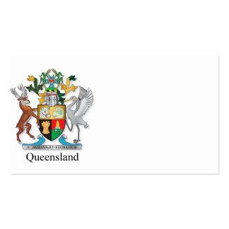 Escudo de armas de Queensland Tarjetas De Visita