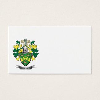 Escudo de armas de Robinson Tarjeta De Negocios