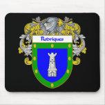 Escudo de armas de Rodriques/escudo de la familia Alfombrilla De Ratón
