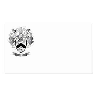 Escudo de armas de Rogers Tarjetas De Visita