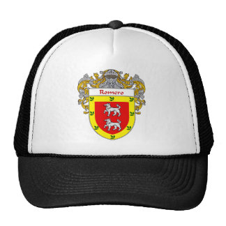 Escudo de armas de Romero cubierto Gorros Bordados