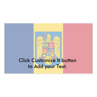 Escudo de armas de Rumania, el República del Congo Tarjetas Personales