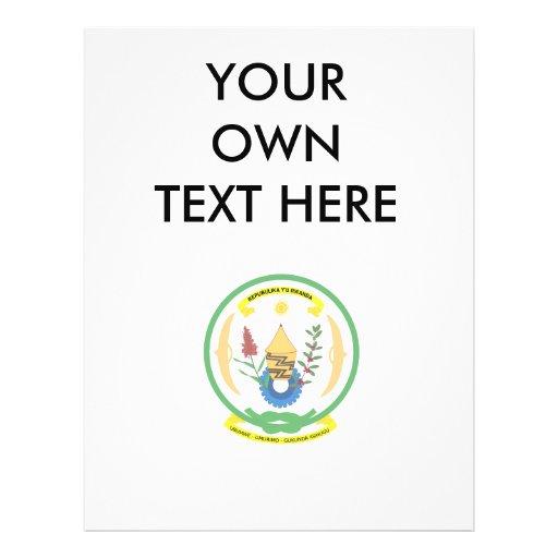 Escudo de armas de Rwanda Tarjetas Publicitarias