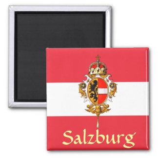 Escudo de armas de Salzburg Imán Cuadrado