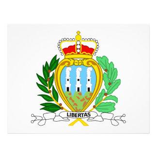 Escudo de armas de San Marino Flyer A Todo Color