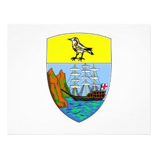 Escudo de armas de Santa Helena Tarjetón