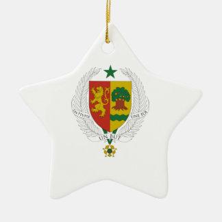 Escudo de armas de Senegal Adorno De Cerámica En Forma De Estrella
