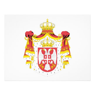 Escudo de armas de Serbia Flyer Personalizado