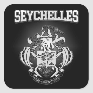 Escudo de armas de Seychelles Pegatina Cuadrada