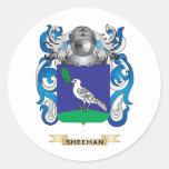 Escudo de armas de Sheehan (escudo de la familia) Pegatinas Redondas
