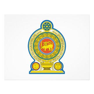 Escudo de armas de Sri Lanka Tarjetones