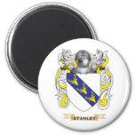 Escudo de armas de Stanley (escudo de la familia) Imanes De Nevera
