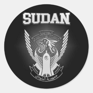 Escudo de armas de Sudán Pegatina Redonda