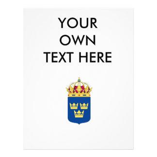 Escudo de armas de Suecia Flyer A Todo Color