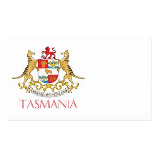 Escudo de armas de Tasmania Tarjetas De Visita
