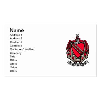 Escudo de armas de TKE Plantillas De Tarjeta De Negocio