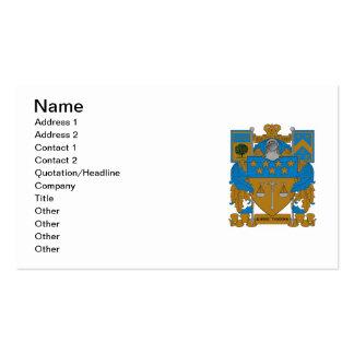 Escudo de armas de Upsilon del delta Tarjetas De Visita