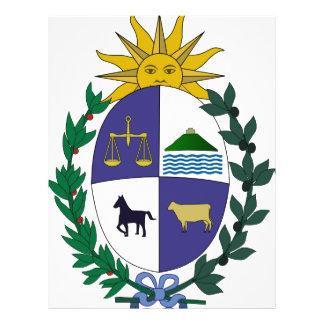 Escudo de armas de Uruguay Folleto 21,6 X 28 Cm