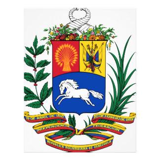 Escudo de armas de Venezuela Folleto 21,6 X 28 Cm
