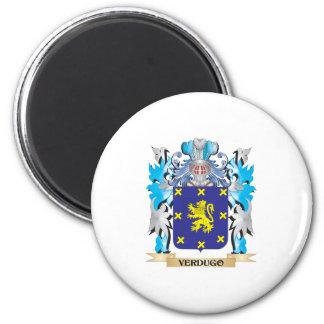 Escudo de armas de Verdugo - escudo de la familia Imán Redondo 5 Cm