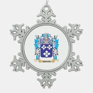 Escudo de armas de Vinson - escudo de la familia Adorno De Peltre En Forma De Copo De Nieve