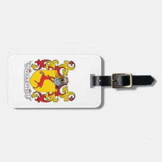 Escudo de armas de Violette Etiquetas Bolsas