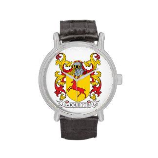 Escudo de armas de Violette Reloj De Mano