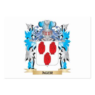 Escudo de armas del Ager Plantilla De Tarjeta De Visita