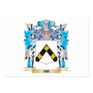 Escudo de armas del aire plantilla de tarjeta de visita
