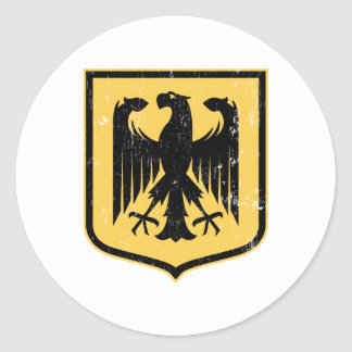 Escudo de armas del alemán Eagle - de Deutschland Etiquetas Redondas