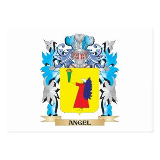 Escudo de armas del ángel tarjeta de visita