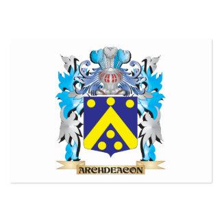 Escudo de armas del arcediano tarjeta personal