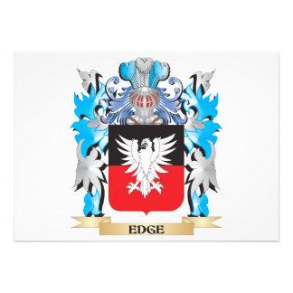 Escudo de armas del borde - escudo de la familia
