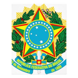 Escudo de armas del Brasil Folleto 21,6 X 28 Cm
